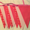 Pink Bunting Flags