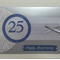 Deluxe Silver, diamantes, ribbon & sparkling blue - Number Anniversary