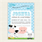 Boy Farm Animal Birthday Invitation Printable