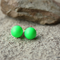 Large Neon Green Swarovski pearl, Sterling Silver, stud earring