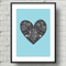 A4 Nursery Art Print - My Baby you will be - Blue - For Baby or Childrens Room