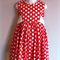Red Polka Dot Party Dress Size 4 Years
