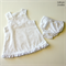 White Broderie Anglaise Pinafore/Dress Set
