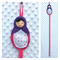 Babushka Doll Hair Clip Holder - Pink, Purple and White