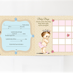 Vintage Princess or Prince Baby Shower Games, Print your Own Games