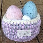 Easter Egg Basket Hand Crochet