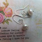 Fresh Water Pearl Silver Swirls