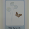 Simple & Sweet Sympathy - Dandelions & Butterfly in Soft Soothing Blue