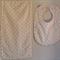 Newborn Baby Girl Bib and Burp Cloth Set - Pink spots!
