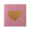 FOIL BRIGHTS  Pink textured card with gold foil heart and pocket