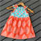 Teal & Coral Dress~ Size 4
