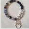 Faceted Agate and Sterling Silver Plate Bracelet