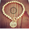 6mm Balls Of Fun in Goldfille with personalised GF disc/Hand stamped/ jewellery