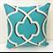 Apache Bright Blue & White Lattice Cushion Cover - Retro Cushions 45cm
