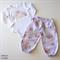 Gorgeous Mauve Floral Lounge Pants Set - Size 1