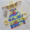 Kids Apron - boys & girls Hootie Owl lined kitchen/craft/play apron - owls/trees