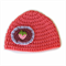 Baby Girl Pure Wool Winter Crochet Knit Beanie Hat 0 - 3 months - Strawberry