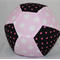 Balloon Ball Cover - Fabric Cover - pink dots/black/pink spots
