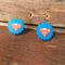Superman/woman earrings