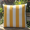 Outdoor Citrus Yellow Large Canopy Stripe Cushion Cover- 65cm