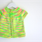 Multicolour Hand Knit Baby Cardigan in Super Soft 100% Wool - Size 12 Months