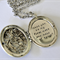 Bridesmaid Maid Of Honor Locket Necklace Hand Stamped Large Locket Bridal Party