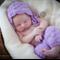 Mohair Pants and Bonnet Set / Newborn Photography Prop / Lilac