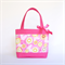 Mini Tote Bag - Pink Floral / Hot Pink Spot