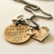 Mothers Day Mother Son Necklace Hand Stamped Personalised Jewellery