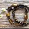 Tiger Eye Gemstone Bead Bracelet Set