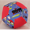 Balloon Ball Cover - Fabric Cover - trains/red