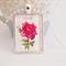 Satellite Rose postage stamp pendant
