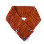 Neck warmer vintage buttons women's winter scarves scarf neckwarmers