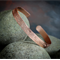Arm Band, Hammered Solid Copper, Leaf Textured, Lead and Nickel Free, Copper upp