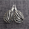 Zebra ~Teardrop Lever Back Earrings