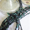 CROCHET BEADED NECKLACE - RAINBOW GREEN BEADS