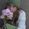 Vintage Virtues Green Wool Crochet Fingerless Gloves