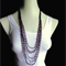 CROCHET BEADED NECKLACE - HOT PINK BEADS
