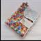 Multi-coloured Diamond/Cot/Pram Minky Blanket