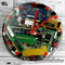Tick Tock it's Button O'Clock - Recycled Computer Componets Clock - 27cm