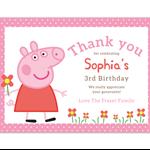 Printable Birthday Thank you Card - 'Peppa Pig'