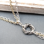 Vesper's Algerian Love Knot Necklace