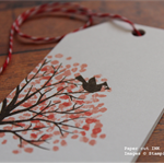 Large Tree Gift Tags - White Finish with Red & White Baker's Twine