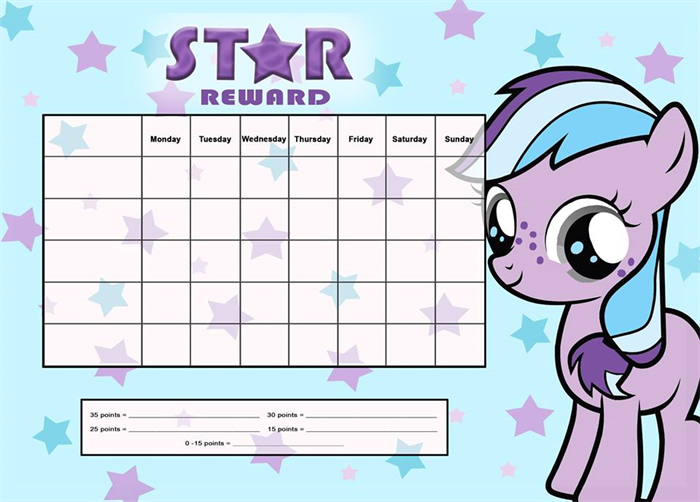 My little pony a4 magnet reward chart kristen doherty design