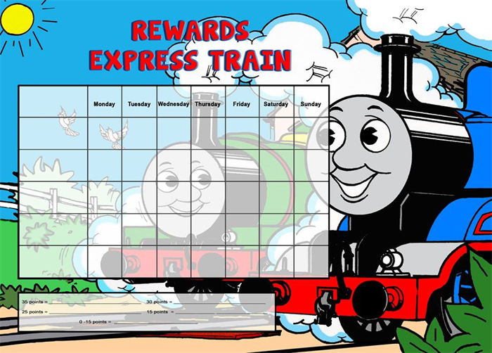 THOMAS THE TANK ENGINE A4 NOTEPAD Reward Chart 25 Pages