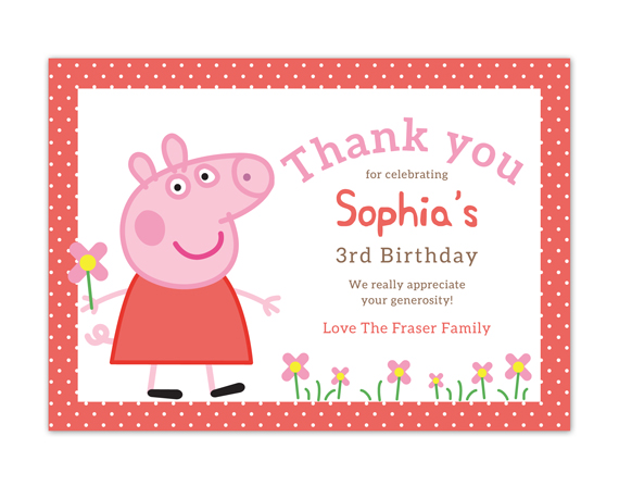 Printable Birthday Thank You Card