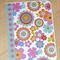 Blank female card - modern flower design
