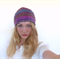 Hand knitted beanie - knit beret in a silk wool blend