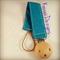 Bright Blue Aqua Pacifier Dummy Clip Holder Boys Chain Wooden Natural Universal