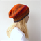 Hand knit slouch beanie, knit hat in autumn colors